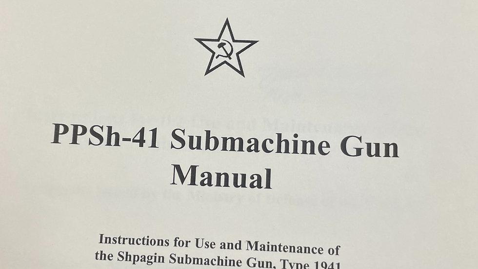PPSh-41 Submachine Gun Manual