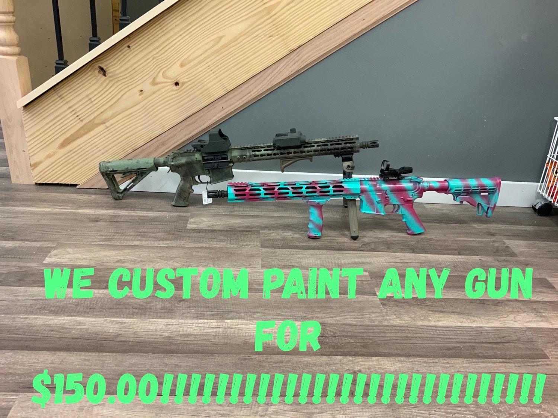 Custom painted gun