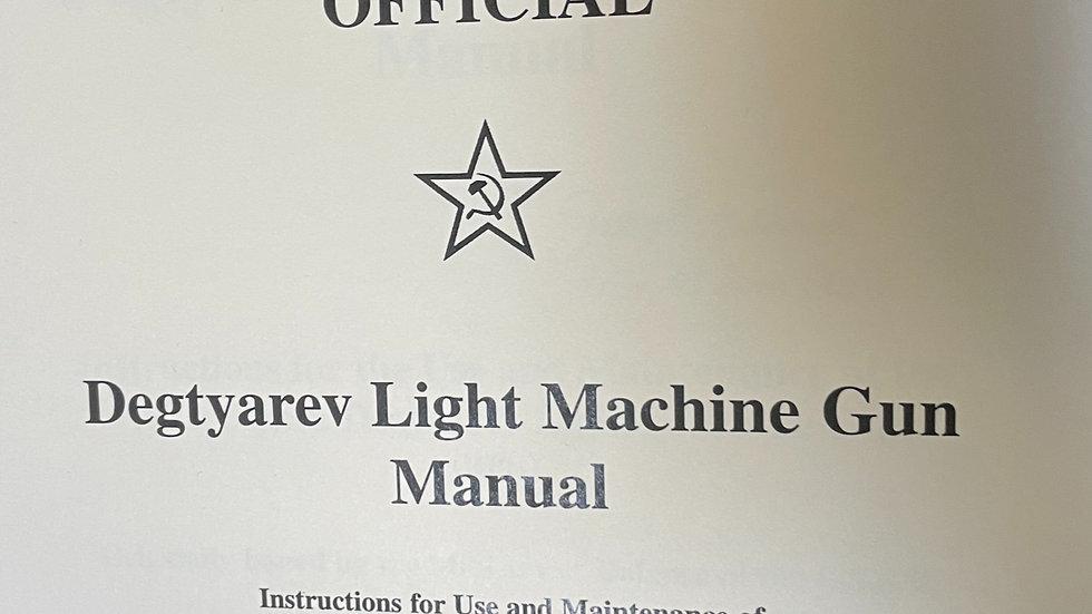 Degtyarev Light Machine Gun Manual