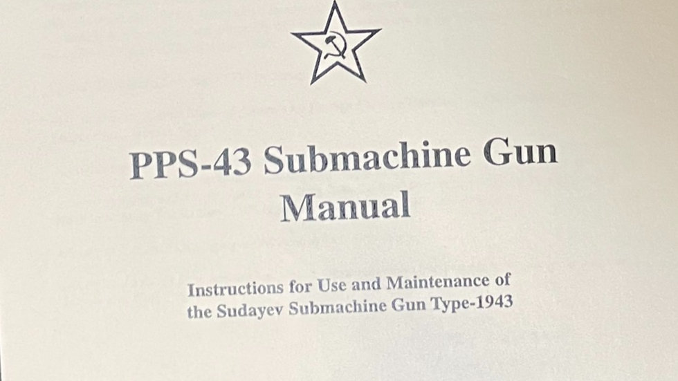 PPS 43 Submachine gun Official manual