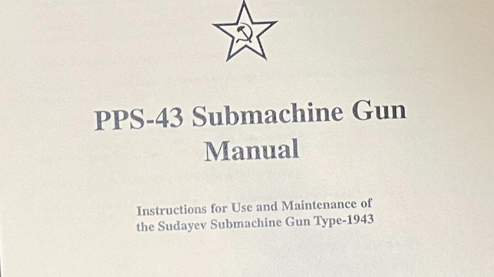 PPS 43 Submachine gun Official manual