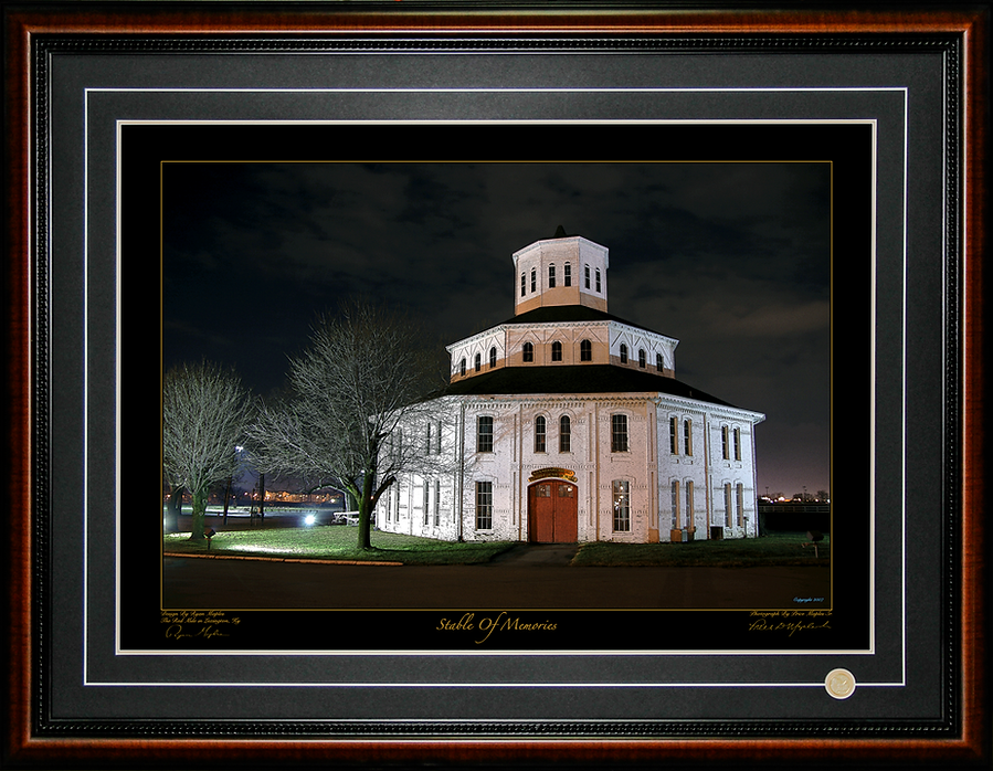Red Mile Barn Photograph By Price Maples Sr. And Design By Ryan Maples And Framed By Price Maples Sr. Art & Framing Custom Frame Shop And Art Gallery In Lexington, Ky