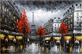 Paris Street Scene Oil Paintings At Price Maples Sr. Art & Framing Custom Frame Shop And Art Gallery In Lexington, Ky