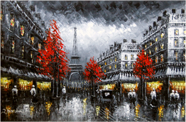 Paris Street Scene Oil Paintings At Price Maples Sr. Art & Framing Custom Frame Shop And Art Gallery In Lexington, Ky
