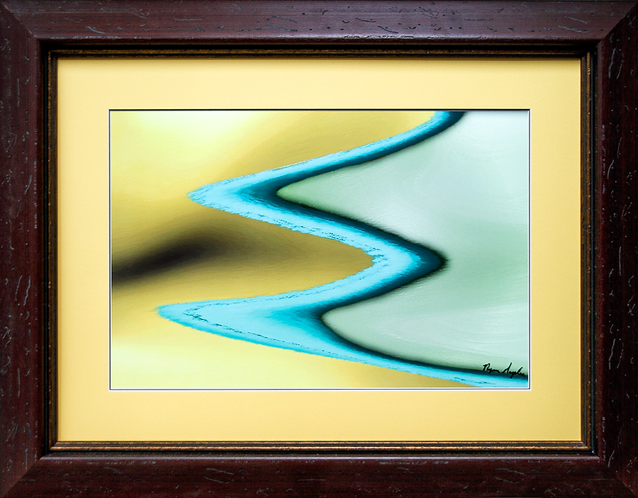 Ice World Abstract By Ryan Maples Framed By Price Maples Sr. Art & Framing Custom Frame Shop And Art Gallery In Lexington, Ky
