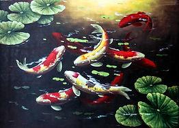Koi Fish Oil Paintings At Price Maples Sr. Art & Framing Custom Frame Shop And Art Gallery In Lexington, Ky
