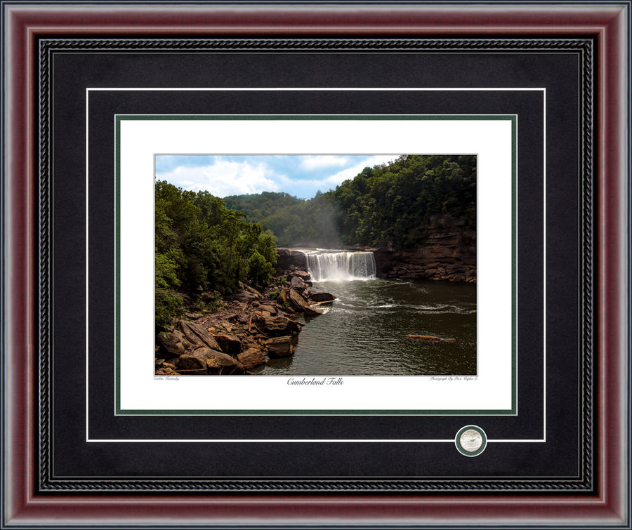 Cumberland Falls Signed And Numbered Photograph By Price Maples Sr. Framed By Price Maples Sr. Art & Framing Custom Frame Shop And Art Gallery In Lexington, Ky