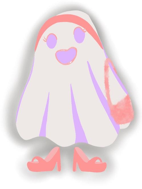 Pink Ghostie Sticker