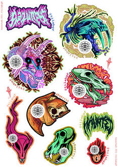 HAUNTED DIY STICKERS PAGE