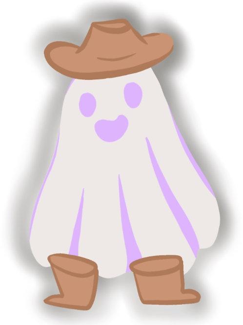 Wild West Ghostie Sticker