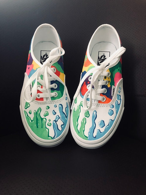 Mosaic and Droplets Shoes