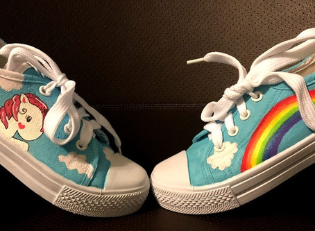 Unicorns and Rainbows Shoes: A Process