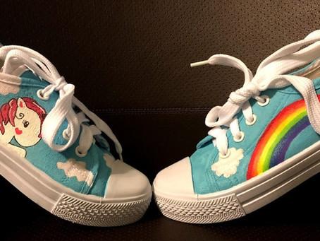 Unicorns and Rainbows Shoes: A Process