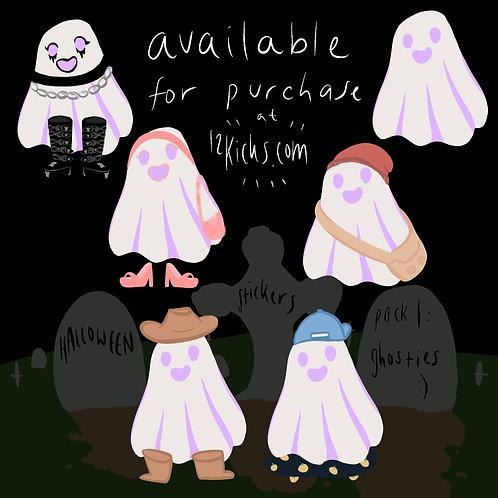 Ghosties Sticker Pack