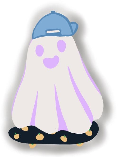 Skateboard Ghostie Sticker
