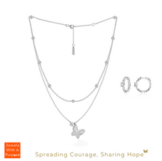 You Are My Butterfly! Necklace & Earrings Set in White Gold (main).png