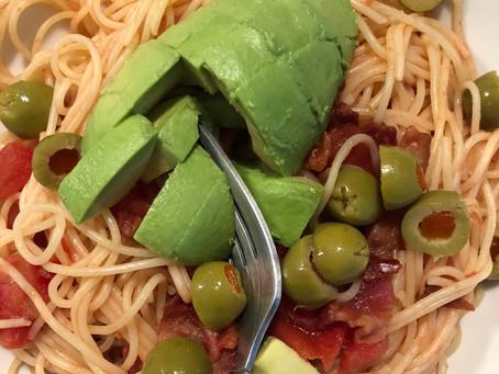 Tomato balsamicbacon pasta