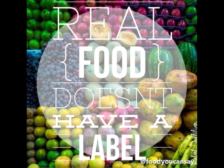 Real foods don't need a label