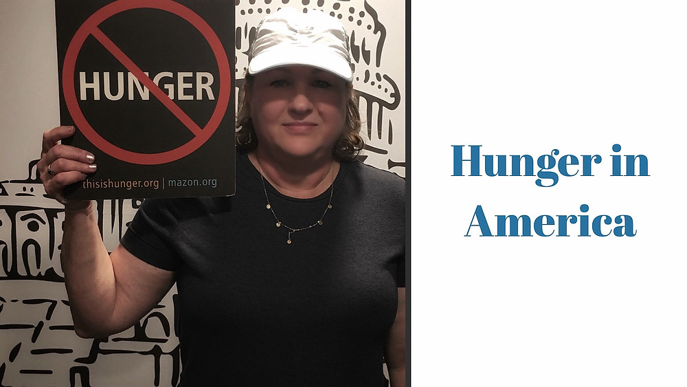 Hunger in America sign.