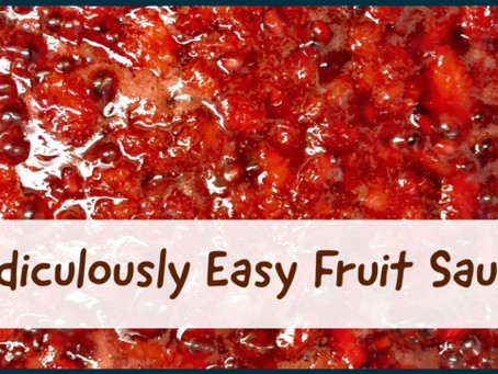 Ridiculously Easy Fruit Sauce, FODMAP friendly