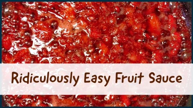 easy fruit sauce