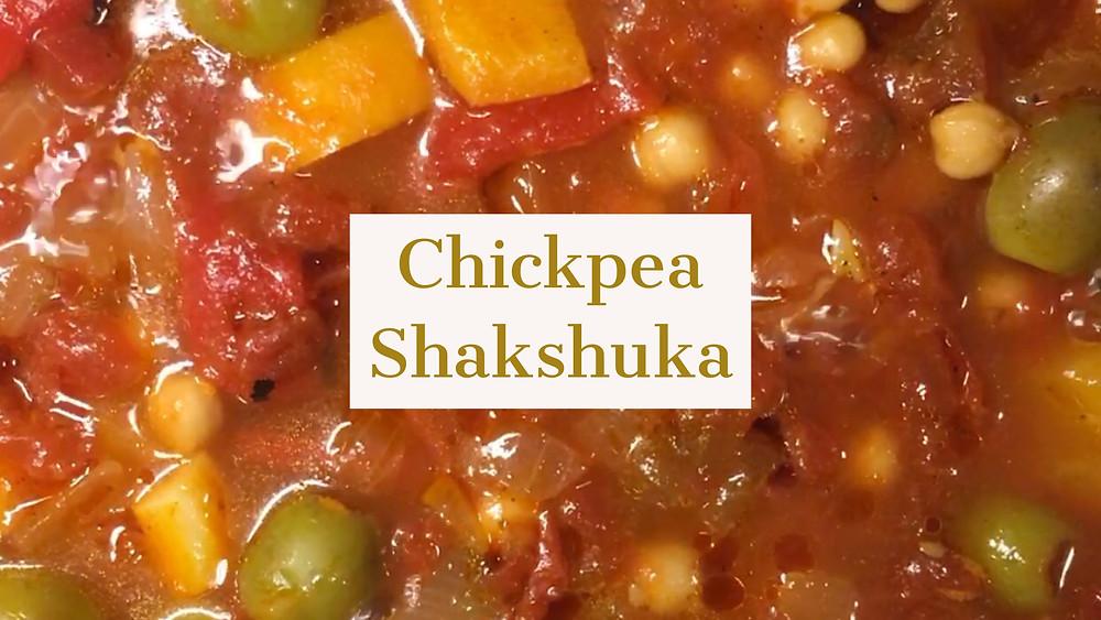 Chickpea Shakshuka recipe, vegan