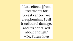 Side effects from breast cancer are collateral damage.