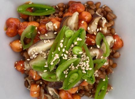 How to make a vegetarian grain bowl