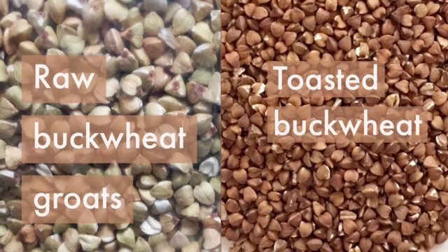 Raw vs toasted buckwheat