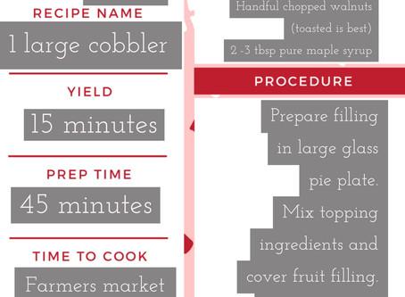 Dessert for breakfast; A recipe for Blueberry-Peach Cobbler