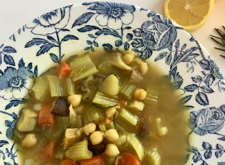 Turmeric Chickpea Soup