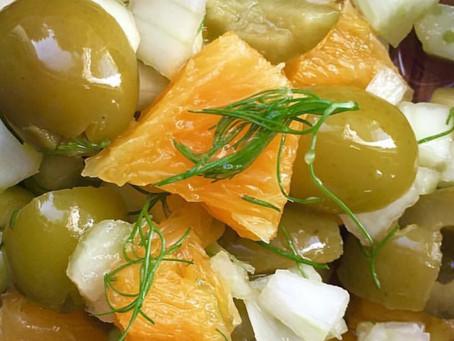 Olive and endive salad
