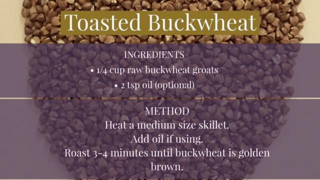 recipe for toasted buckwheat