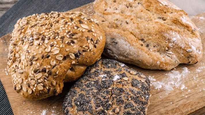 Breads baked with flaxseed