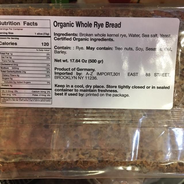 high fiber bread, dense with nutrients