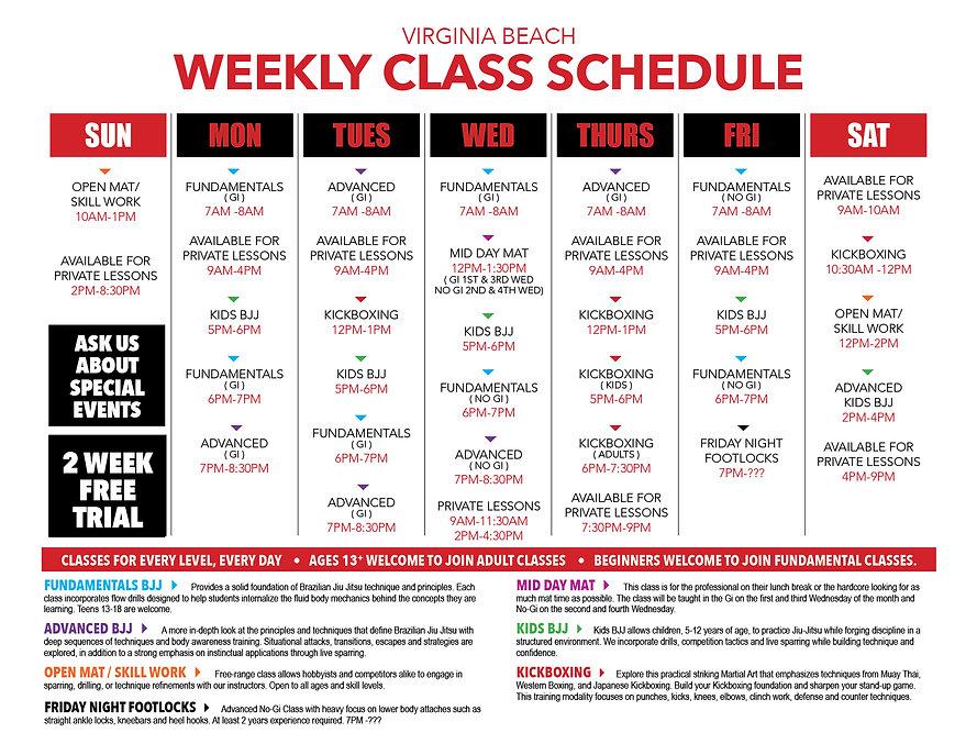 Weekly Class Schedule Virginia Beach.jpg