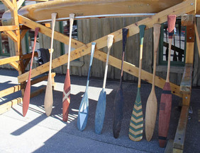 Hand carved paddles by Max