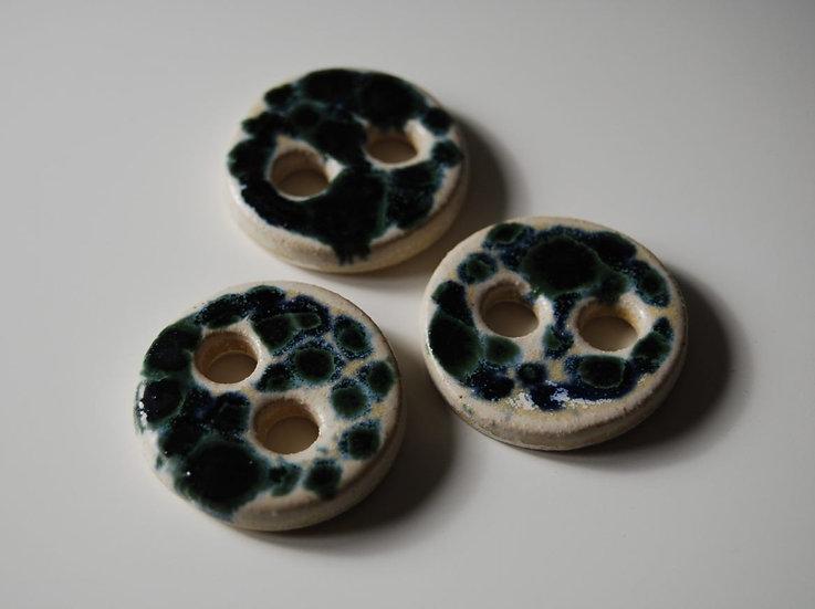 Ceramic Buttons - Tortoise Shell