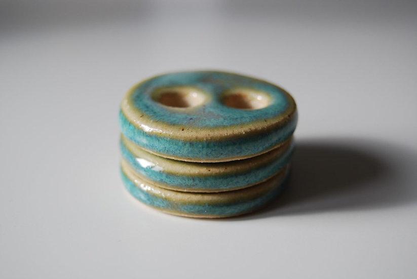 Ceramic Buttons - Blue Lagoon