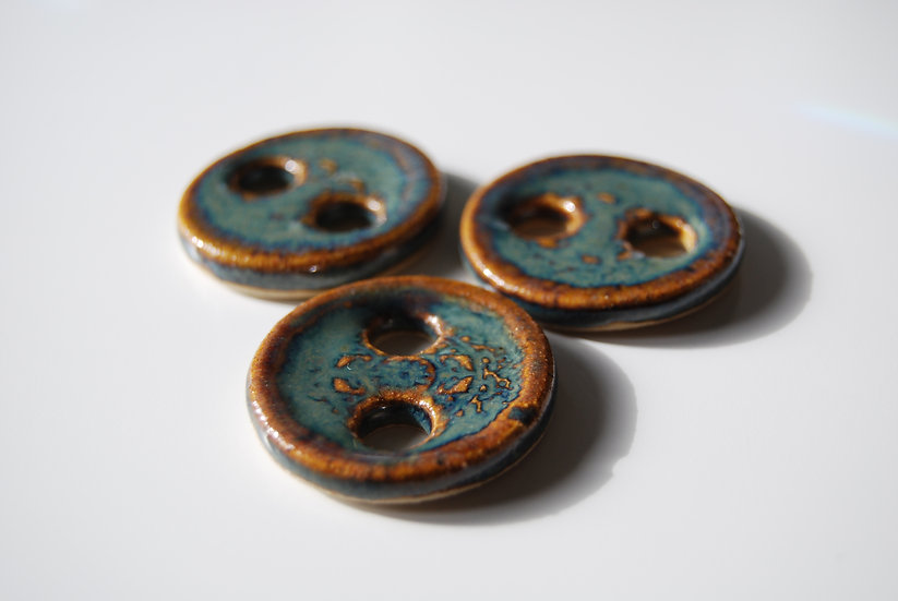 Ceramic Mandala Buttons - Enchanted Forest