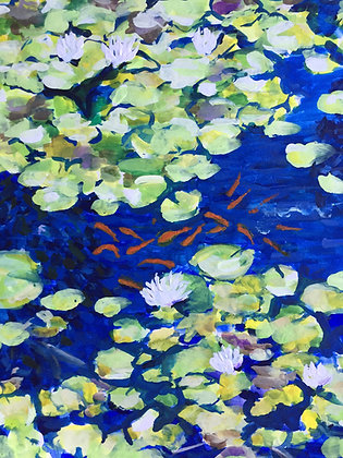 Lilies and Goldfish