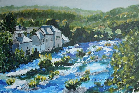 Swift Flowing River Wales