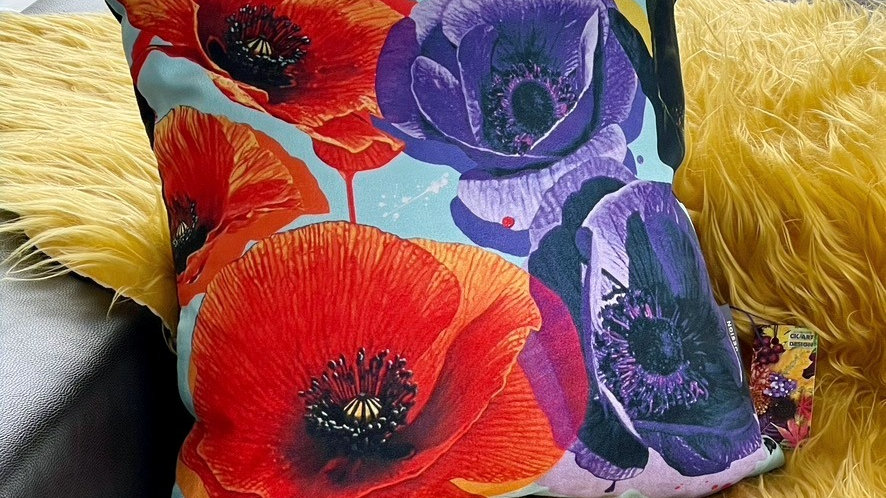 Remembrance Poppies Cushion + Insert