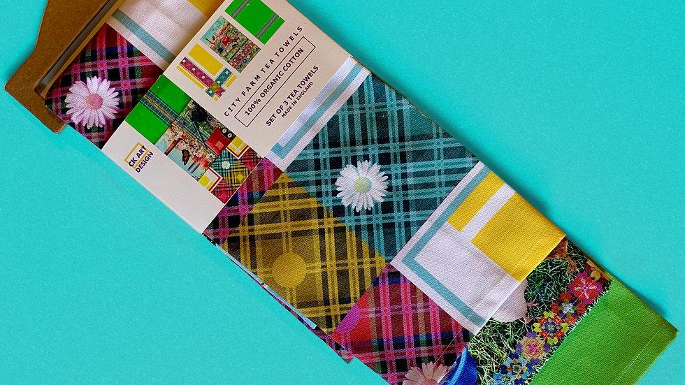 City Farm Tea Towels x 3