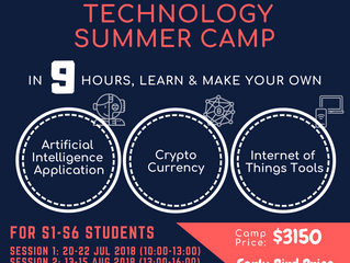 AI - Blockchain - IoT Technology Summer Camp 2018