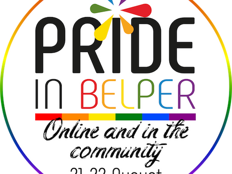 PRIDE IN BELPER – the move to online and this year's plans!