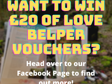Facebook Giveaway: Win £20 LOVE BELPER Vouchers
