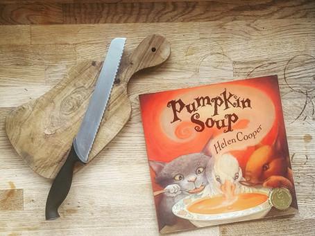 Children's Book Review: Pumpkin Soup by Helen Cooper