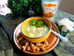 Sopa de brócolis com frango