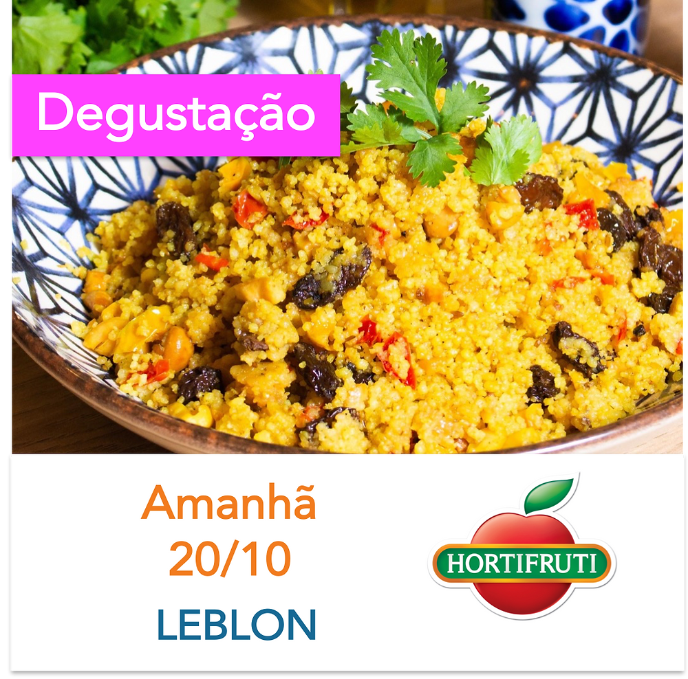 Cuscuz marroquino hidratado com Caldo Natural de legumes